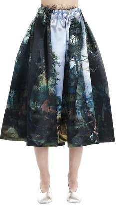 Comme des Garcons Graphic Printed Circle Skirt