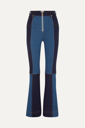 Alice McCall Hometown Patchwork Flared Jeans - Mid denim