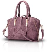NICOLE&DORIS Women Stylish Handbag Messenger Shoulder Purse Tote Casual Work Bag Satchel Zipper