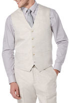 Perry Ellis Big and Tall Linen-Cotton Suit Vest