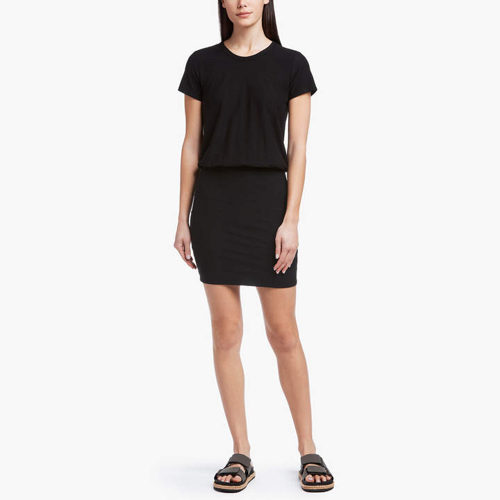 James Perse STRETCH JERSEY BLOUSON T-SHIRT DRESS