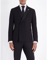 Lardini Double-breasted Wool Jacket