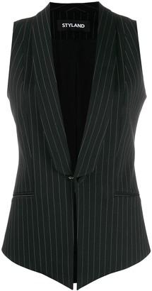 Styland Pinstripe Tailored Waistcoat