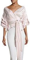 Alexis Armelle Off-The-Shoulder Striped Shirt, Multipattern