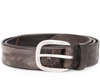 Orciani Engraved Leather Belt