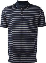 Lanvin displace stripe print polo shirt - men - Cotton - S