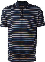 Lanvin displace stripe print polo shirt