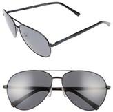 Ted Baker Men's 62Mm Polarized Aviator Sunglasses - Black