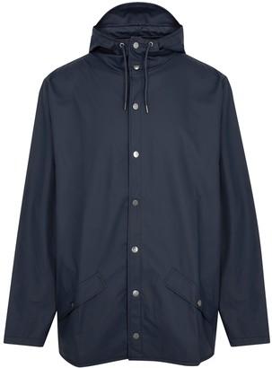 Rains Navy Water-resistant Rubberised Raincoat