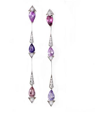Christian Dior 18K 4.39 Ct. Tw. Diamond & Gemstone Earrings