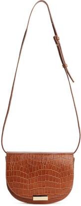 Arket Embossed Leather Crossbody Bag
