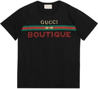 Gucci boutique print T-shirt