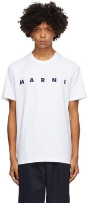 Marni White Front Logo T-Shirt