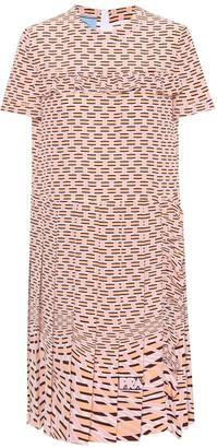 Prada Printed silk crepe dress