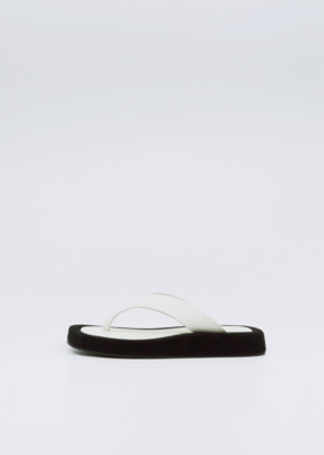 The Row Ginza Sandal Natural / Black
