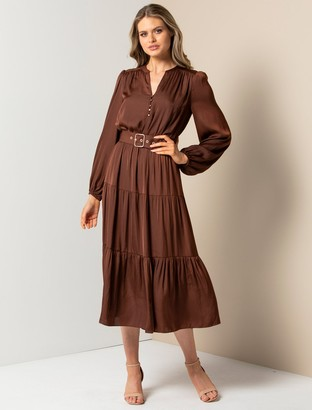 Ever New Mandy Long-Sleeve Tiered Dress