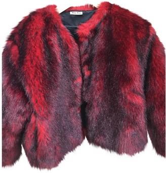 Miu Miu Red Faux fur Coat for Women