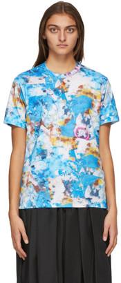 Comme des Garçons Shirt Blue Futura Print T-Shirt