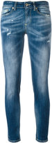 Dondup distressed cropped skinny jeans - women - Cotton/Spandex/Elastane - 25
