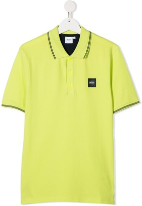 Boss Kidswear TEEN logo-patch polo shirt