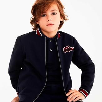 Lacoste Boys' Croc Patch Varsity Jacket