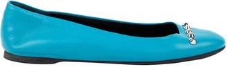Balenciaga Turquoise Leather Ballet flats