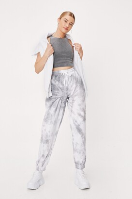 Nasty Gal Womens Now in Color Tie Dye Joggers - Grey - S, Grey