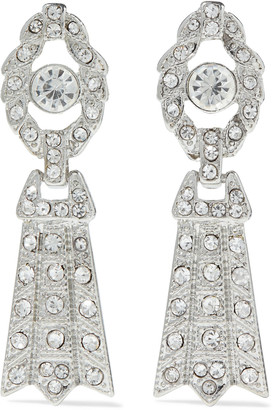 Kenneth Jay Lane Rhodium-plated Crystal Clip Earrings