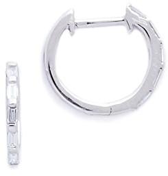 Shay 18k Gold Mini Baguette Diamond Huggie Earrings