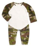 Appaman Baby's Baseball Camo Cotton Tee & Pants Set