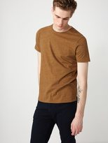 Frank + Oak Melange Loose Fit T-Shirt in Honeycomb