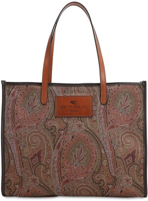 Etro Paisley Shopping Tote Bag