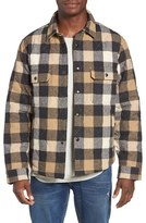 Woolrich Men's Quilted Wool Check Shirt Jacket