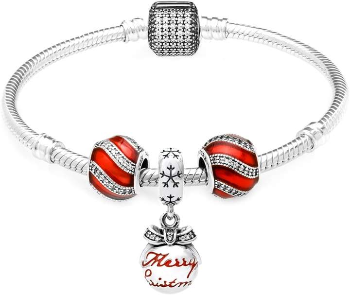 Pandora Christmas Bauble and Red Adornment Gift Bracelet