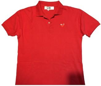 Play Comme Des Garã§Ons Play Comme Des GarAons Red Cotton T-shirts