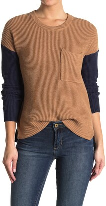 Madewell Thompson Ribbed Colorblock Sweater