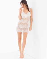 Soma Intimates Sheer Lace Sleep Chemise Ivory
