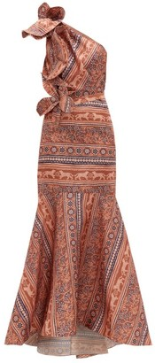Johanna Ortiz Say Aloha! Floral-print Silk-organza Gown - Pink Multi