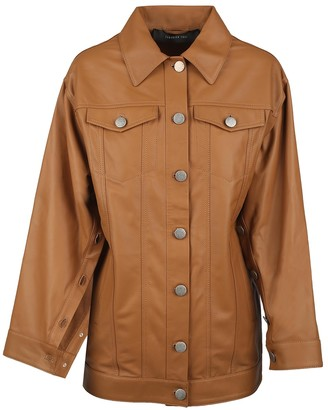 FEDERICA TOSI Camel Leather Leather Jacket for Women
