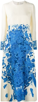 Valentino Floral Vase Print Dress