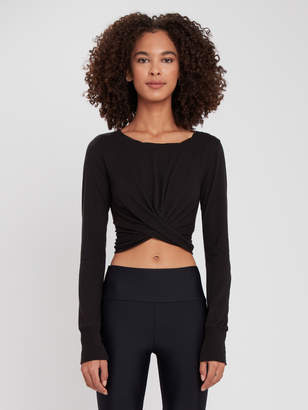 Free People Undertow Surplice Long Sleeve Tee