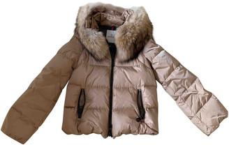 Moncler Fur Hood Gold Beaver Coats