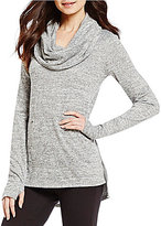 Westbound Long Sleeve Cowl Neck Hi-Low Hem Top