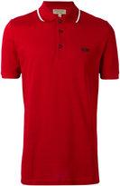 Burberry contrast detail polo shirt - men - Cotton - L