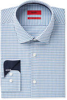 HUGO BOSS HUGO Men's Slim-Fit Dark Blue Check Dress Shirt