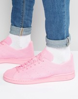 adidas Stan Smith Primeknit Sneakers In Pink S80064