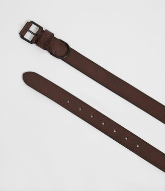 AllSaints Joel-D Leather Belt