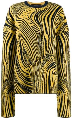 Rokh psychedelic intarsia jumper