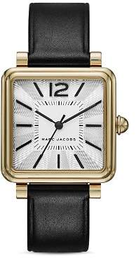 Marc Jacobs Vic Leather Strap Watch, 30mm