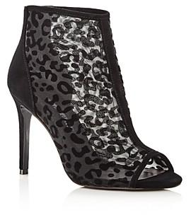 Charles David Women's Cathie Leopard Mesh High-Heel Booties